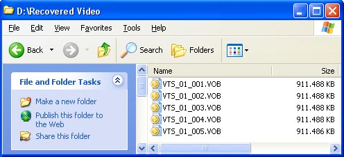 Folder VOB files renamed
