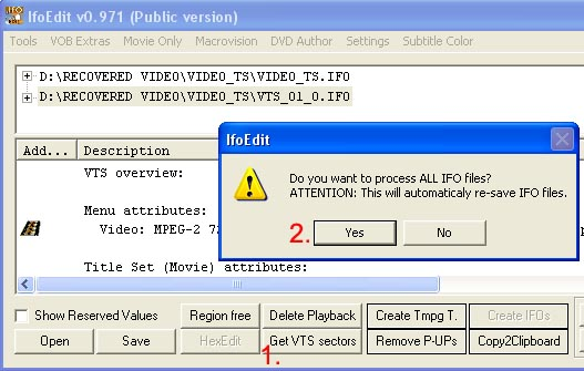IfoEdit - Process IFO files